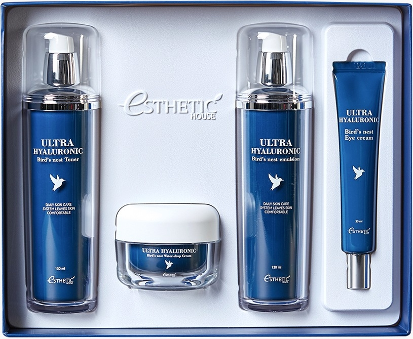 [ESTHETIC HOUSE] ЛАСТОЧКА/ГИАЛУРОН НАБОР для лица Ultra Hyaluronic acid Bird's nest skin care set